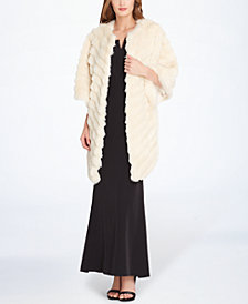 Tahari ASL Faux-Fur Topper Jacket