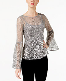I.N.C. Sequinned Illusion Top, Created for Macy's