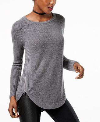 Inc International Concepts Inc Waffle Knit Side Zip Tunic Sweater