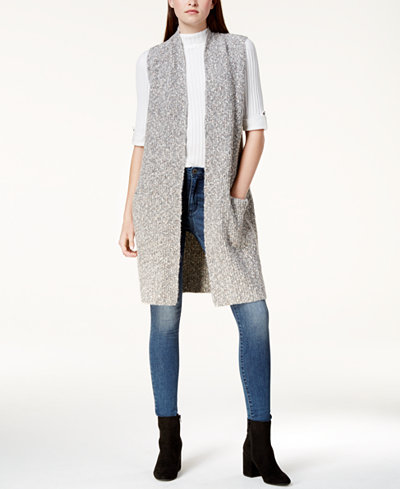kensie Tweed Sweater Vest - Sweaters - Women - Macy's