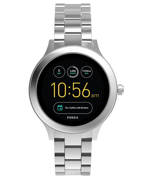 Fossil Q Women's Venture Gen 3 Stainless Steel Bracelet Touchscreen Smart Watch 42mm