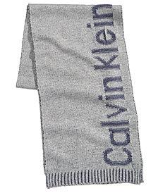 Calvin Klein Men's Plaited Logo Scarf