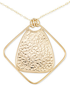 Simone I. Smith Long Hammered Pendant Necklace in 14k Gold over Sterling Silver
