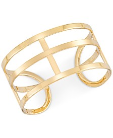 Simone I. Smith Openwork Cuff Bangle Bracelet in 14k Gold over Sterling Silver