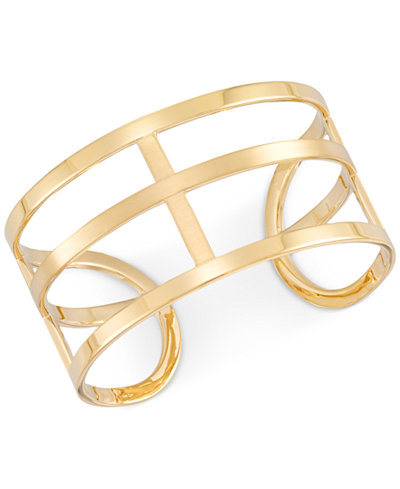 SIS by Simone I. Smith Openwork Cuff Bangle Bracelet in 14k Gold over Sterling Silver