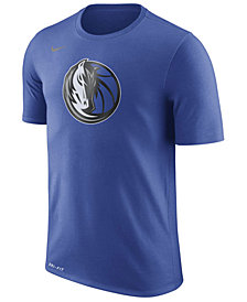 Nike Men's Dallas Mavericks Dri-FIT Cotton Logo T-Shirt