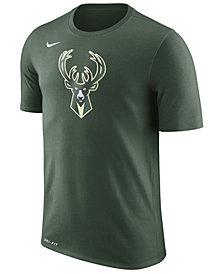 Nike Men's Milwaukee Bucks Dri-FIT Cotton Logo T-Shirt