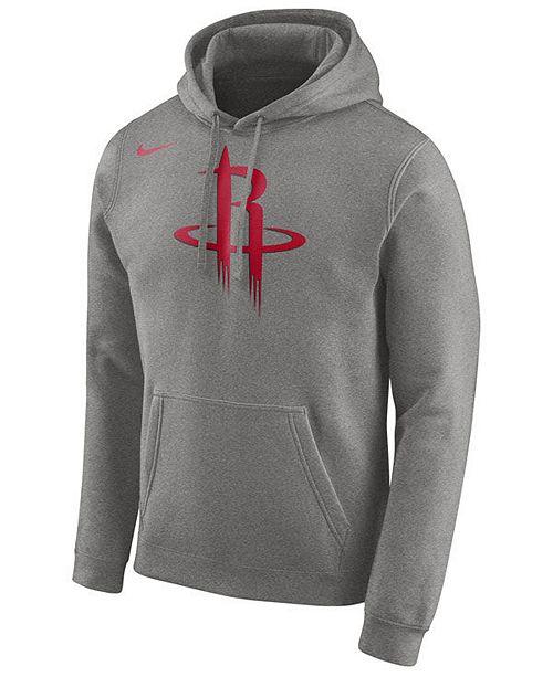 aca190393 Nike Men s Houston Rockets Logo Club Hoodie   Reviews - Sports Fan ...