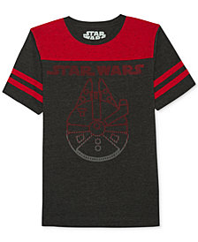 Star Wars Millennium Falcon-Print T-Shirt, Big Boys