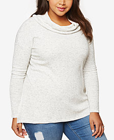 Motherhood Maternity Plus Size Cowl-Neck Nursing Top
