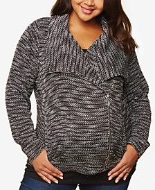 Motherhood Maternity Plus Size Moto Cardigan