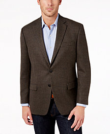 Lauren Ralph Lauren Men's Classic-Fit Ultraflex Light Olive Houndstooth Wool Sport Coat