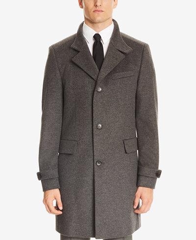 BOSS Men's Slim Fit Virgin Wool Cashmere Coat