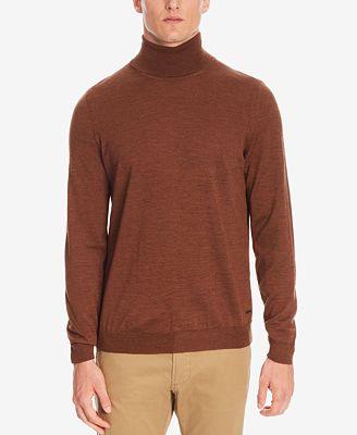 BOSS Men's Merino Wool Turtleneck Sweater