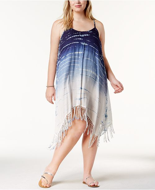 9d932fff86f Raviya. Plus Size Tie-Dyed Fringed Cover-Up Dress. Be the first to Write a  Review. main image  main image