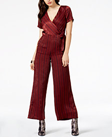 J.O.A. Striped Wide-Leg Jumpsuit