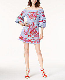 I.N.C. Cotton Off-The-Shoulder Dress, Created for Macy's