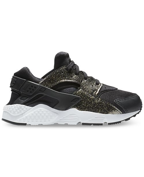 sports shoes e1073 b819a ... Finish Line  Nike Little Girls  Air Huarache Run SE Running Sneakers  from Finish ...