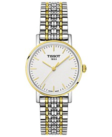 Tissot Women's Swiss Everytime Small Two-Tone PVD Stainless Steel Bracelet Watch 30mm