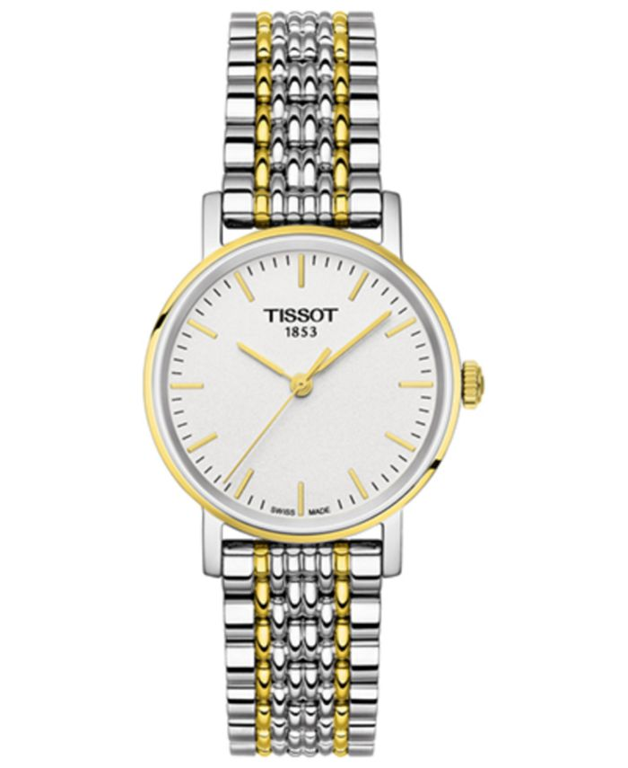 Tissot - Women's Swiss Everytime Small Two-Tone PVD Stainless Steel Bracelet Watch 30mm