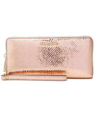 michael kors jet set travel continental wallet handbags rh macys com