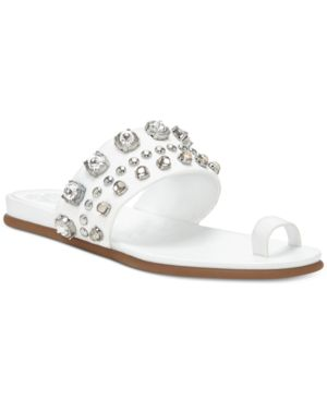 Vince Camuto Emmerly Jewel Studded Flat Sandals Women's Shoes 5198585