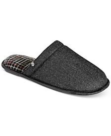 Men's Herringbone Slide Slippers With Memory Foam