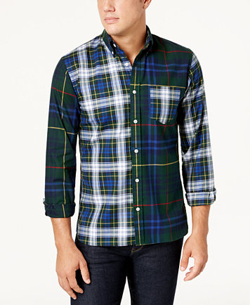 Brooks Brothers Red Fleece Men's Tartan Flannel Shirt - Casual ...