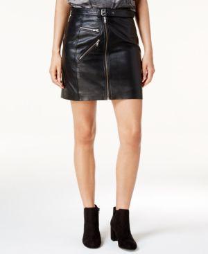 Lucky Brand Leather Moto Skirt thumbnail