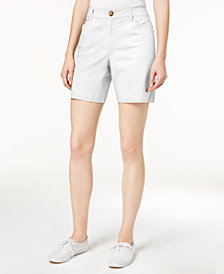 Charter Club Mid-Rise Twill Shorts, Created for Macy's