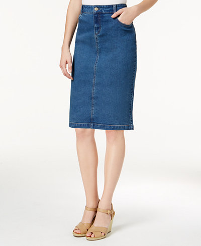 Charter Club Denim Pencil Skirt, Created for Macy's