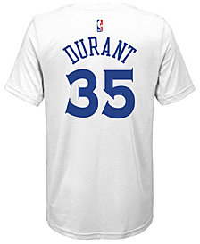 Nike Kevin Durant Golden State Warriors Icon Name & Number T-Shirt, Big Boys (8-20)