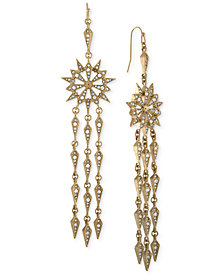 RACHEL Rachel Roy Gold-Tone Pavé Starburst Chandelier Earrings