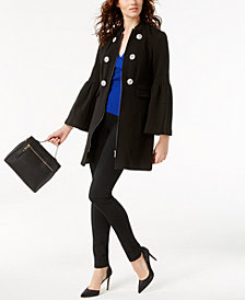 I.N.C. Rhinestone-Button Jacket & Ribbed Top, Created for Macy's