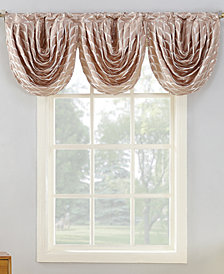 "Sun Zero Atticus Metallic Geometric Jacquard 24"" x 22"" Blackout Lined Rod-Pocket Curtain Valance"