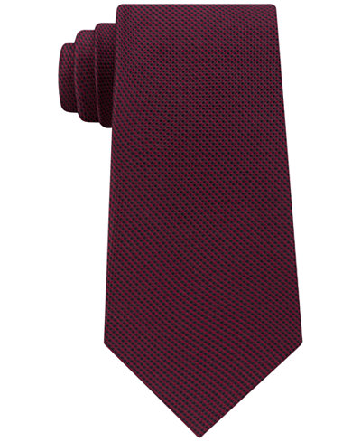 Calvin Klein Men's Merlot Micro Check Tie