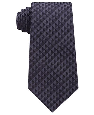 Calvin Klein Men's Optic Geometric Silk Tie