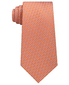 Michael Kors Men's Pindot Ground Diamond Silk Tie