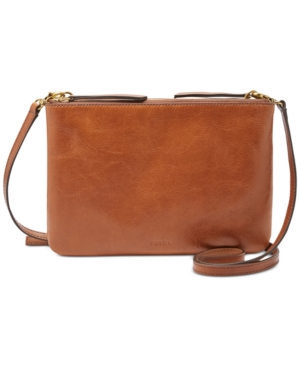 Image of Fossil Devon Small Leather Crossbody