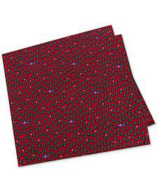 Tommy Hilfiger Men's Conversational Holiday Silk Pocket Square