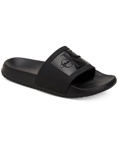 Calvin Klein Jeans Women's Christie Pool Slides, Created For Macy's