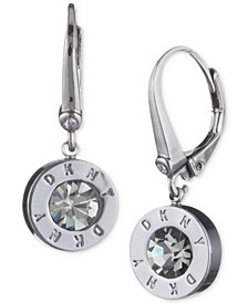 Crystal Logo Drop Earrings, Created for Macy's