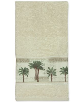 Citrus Cotton Palm-Print Hand Towel