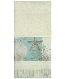 Bacova Coastal Moonlight Cotton Printed Fingertip Towel