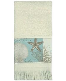 Bacova Coastal Moonlight Cotton Printed Fingertip Towel