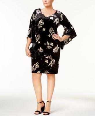sweetheart velvet dress for plus size