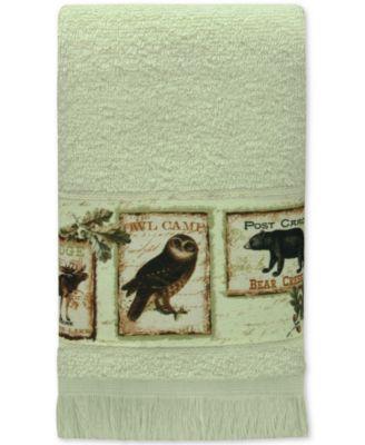 Lodge Memories Cotton Graphic-Print Fingertip Towel