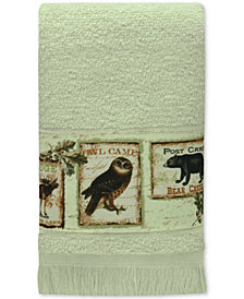 Bacova Lodge Memories Cotton Graphic-Print Fingertip Towel