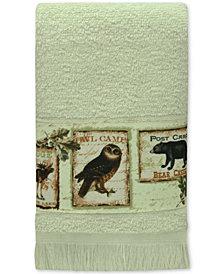 Bacova Lodge Memories Cotton Graphic-Print Fingertip Towel