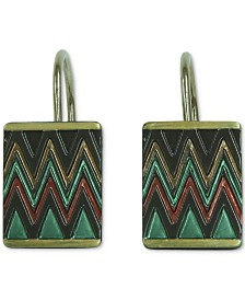 Bacova Sierra 12-Pc. Zig-Zag Shower Curtain Hook Set